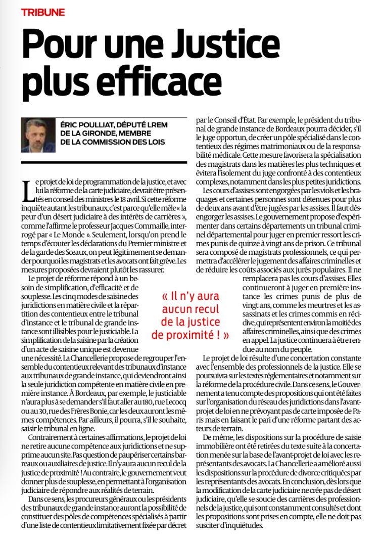 Tribune Eric POULLIAT Réforme de la carte judiciaire 12-04-18.PNG